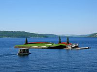 Coeur d'Alene Resort's floating green (14th hole)