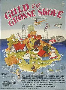 Guld og grønne skove (The Girls Are Willing) 1958 Gabriel Axel poster by Aage Lundvald.jpg