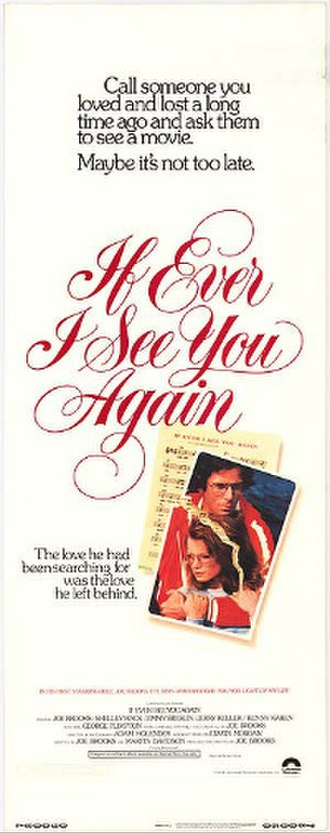 If Ever I See You Again (film) - Image: If Ever I See You Again film poster, 1978