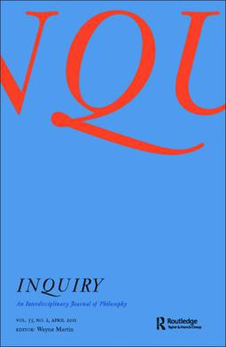 Inquiry: An Interdisciplinary Journal of Philosophy - Image: Inquiry journal cover