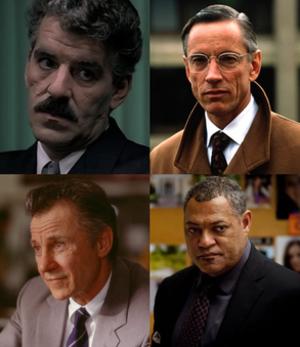 Jack Crawford (character) - Four on-screen versions of Jack Crawford (clockwise from top left): Dennis Farina, Scott Glenn, Laurence Fishburne, Harvey Keitel.