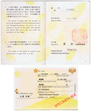 Japan Re-entry Permit - Japan Re-entry Permit Instruction Pages and Personal Information Page.