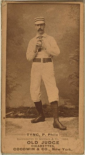 Harvard Crimson baseball - Jim Tyng on an 1888 baseball card.