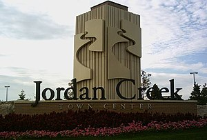 Jordan Creek Town Center - Image: Jordan Creek Sign