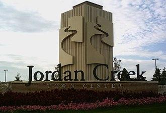 Jordan Creek Town Center - Image: Jordan Creek Sign