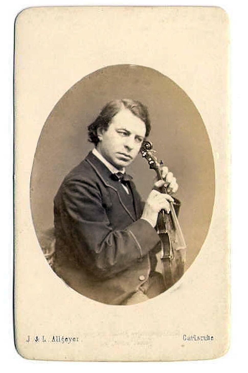 Joseph Joachim (photo by Julius Allgeyer)