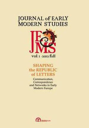 Journal of Early Modern Studies - Image: Journal of Early Modern Studies