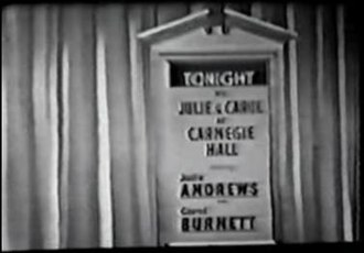 Julie and Carol at Carnegie Hall - Title card