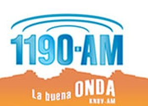 KNUV - 1190 KNUV La Buena Onda logo used until July 31, 2008 sign off