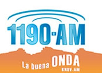 KNUV - 1190 KNUV La Buena Onda logo used until July 31, 2008 sign off