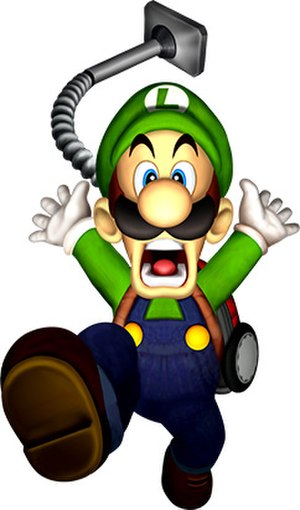 Luigi - Luigi as seen in Luigi's Mansion. The vacuum was listed as one of the best Nintendo gimmicks by GameDaily.