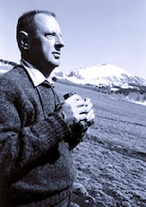 Marshall Sprague - Photograph of Marshall Sprague, taken by Myron Wood in April 1964, Pikes Peak Library District collection