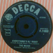 UK Decca label from 1964 - Everything's Al' Right by The Mojos
