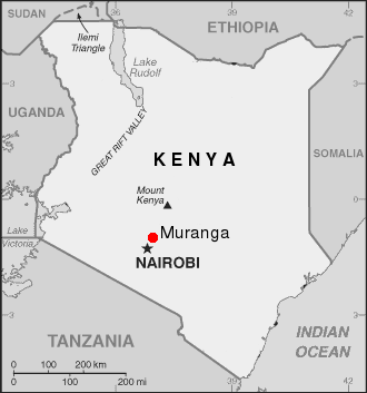 Murang'a - Muranga lies between Nairobi and Mount Kenya