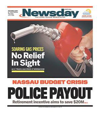 Newsday - The February 21, 2012 front page of Newsday