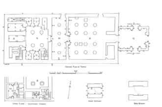 Temple of Hibis - Plan of the Temple of Hibis