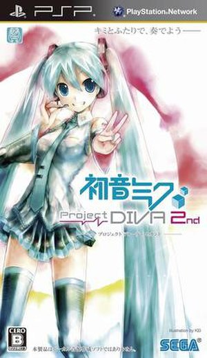 Hatsune Miku: Project DIVA 2nd - Image: Project Diva 2nd cover