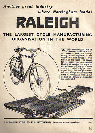 Raleigh advert from 1940. Raleigh 1940s advert.jpg