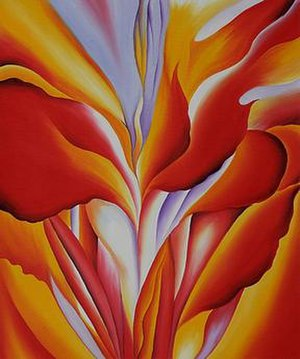 Red Canna (paintings) - Image: Red Canna (1924) by Georgia O'Keeffe