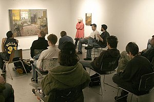 "School of the Art Institute of Chicago - ""Painting critique"": students' critiquing Ben Cowan's work"