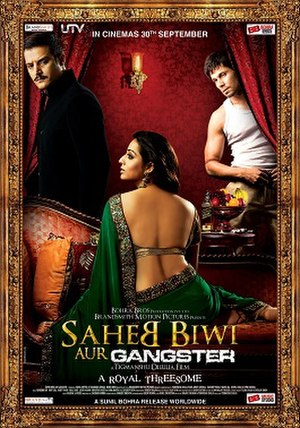 Saheb, Biwi Aur Gangster - Theatrical Release Poster