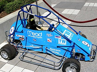 Quarter Midget racing - Sarah Fisher's Quarter Midget car in 2007