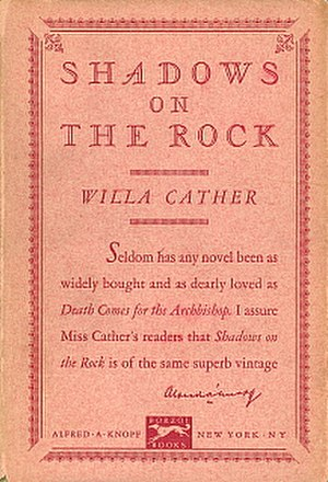 Shadows on the Rock - First edition