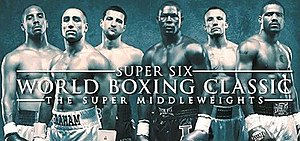 Super Six World Boxing Classic - Left to right: Ward, Abraham, Froch, Taylor, Kessler, Dirrell