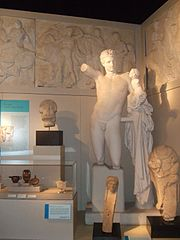 A collection of artifacts representing ancient Greek religion