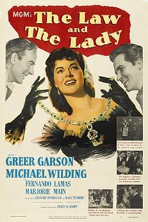 <i>The Law and the Lady</i> (1951 film) 1951 film by Edwin H. Knopf