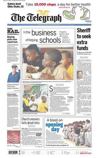 The Telegraph (Macon) - The 2007-04-03 front page of The Telegraph