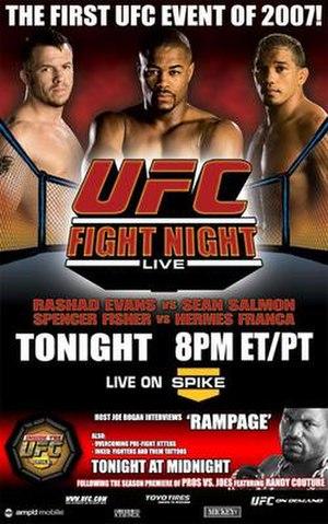 UFC Fight Night: Evans vs. Salmon - Image: Ufcfightnight 8 jan 2407