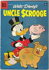 Uncle Scrooge #21 cover. Art by Carl Barks.