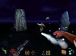 Clive Barker's Undying - In Undying the player is capable of using both conventional weapons and magical abilities simultaneously.