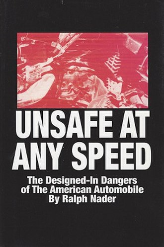 Unsafe at Any Speed - Exhibit featuring the book at Henry Ford Museum, Detroit