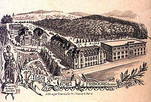 Villa St. Jean International School - A 1911 bird's-eye view of the campus.