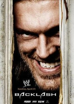 Backlash (2007) - Promotional poster featuring Edge, parodying the movie The Shining