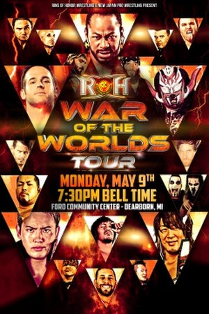 ROH/NJPW War of the Worlds (2016) - Promotional poster for the Dearborn show
