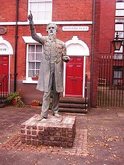 William Booth statue at his birth place in Nottingham.