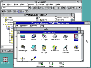 Windows NT 3.1 32-bit cross-platform operating system developed by Microsoft