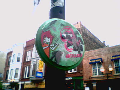 Woodblock on Milwaukee Ave Chicago 2007.jpg