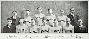 1929–30 Illinois Fighting Illini men's basketball team - Image: 1929–30 Illinois Fighting Illini men's basketball team