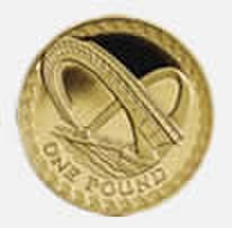 Gateshead Millennium Bridge - The bridge depicted on a 2007 British one pound coin.