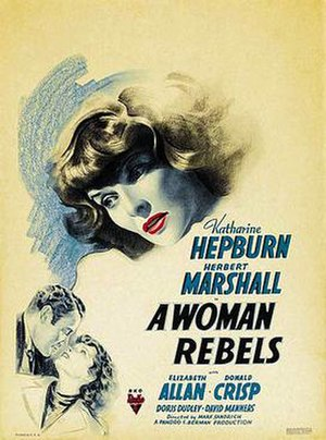 A Woman Rebels - Theatrical release poster