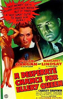 <i>A Desperate Chance for Ellery Queen</i> 1942 film by James P. Hogan