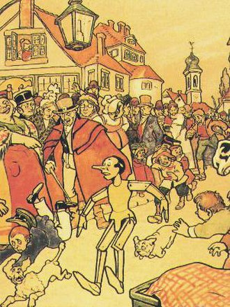 "Sans contrefaçon - The music video for ""Sans contrefaçon"" is inspired by Carlo Collodi's novel The Adventures of Pinocchio (here the 1911 edition by A. Mussino)."