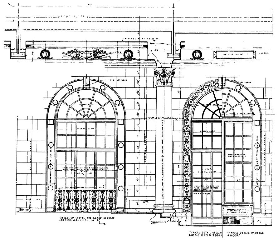 Filearchitectural Diagram Of The Restaurant Of Hotel Pennsylvania