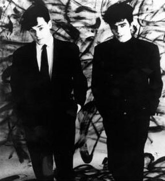 The Associates (band) - Mackenzie (left) and Rankine in a Sire promotional image, c. 1981.