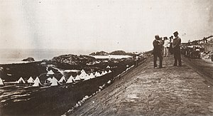 Warwick Camp (Bermuda) - Warwick Camp in the 19th Century, with tents set up on the 800 yard rifle range.