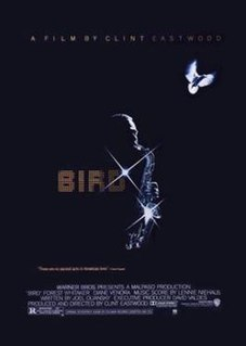 <i>Bird</i> (1988 film) 1988 American biographical film about Charlie Parker directed by Clint Eastwood